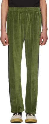Needles Green Velour Narrow Track Pants