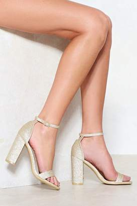 Nasty Gal Moving On Glitter Heel