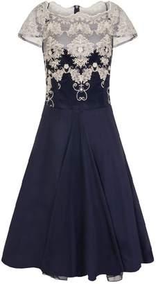 Dorothy Perkins Womens *Chi Chi London Navy Cap Sleeve Tea Dress