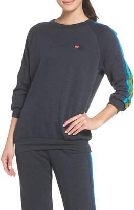 Aviator Nation Stripe Sleeve Sweatshirt