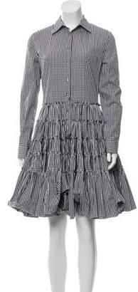 ANAÏS JOURDEN Long Sleeve Midi Dress Black Long Sleeve Midi Dress