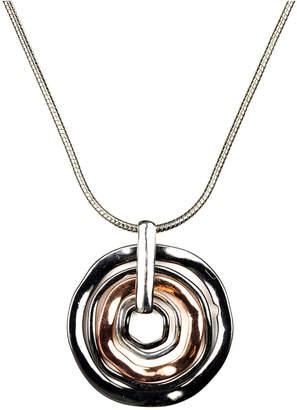 Nine West Necklace, Tri Tone Orbital Pendant