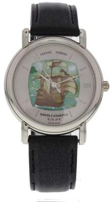 Ulysse Nardin San Marco 139-70-9 Platinum & Leather Automatic 37mm Unisex Watch