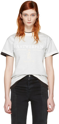 Vetements White Hanes Edition Fitted Double 'Antwerpen' T-Shirt $585 thestylecure.com