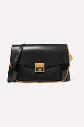 Gv3 Medium Leather And Suede Shoulder Bag - Black