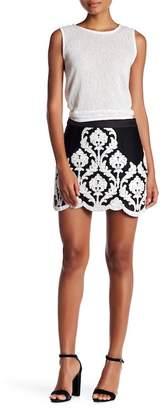 Endless Rose Embroidered Mesh Mini Skirt