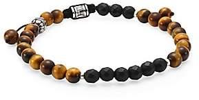 Dakota Jonas Studio Men's Tiger's Eye & Onyx Beaded Bracelet