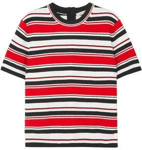 Marc Jacobs Striped Cotton-blend Terry T-shirt