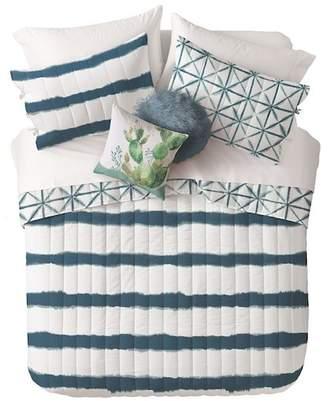 Nordstrom Rack Twin XL Shibori Print Quilt Set - Teal Midnight