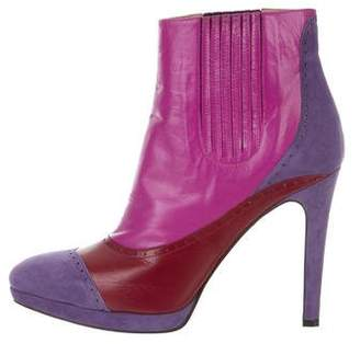 Jean-Michel Cazabat for Sophie Theallet Leather Ankle Boots