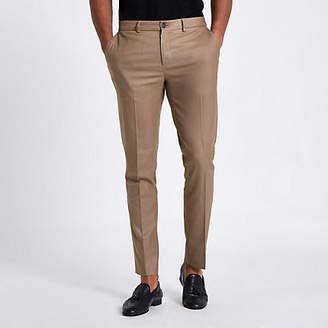 River Island Tan skinny fit smart pants