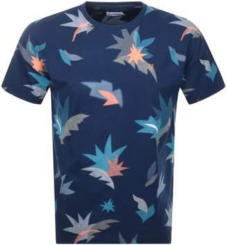Farah King Print T Shirt Blue