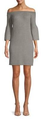 BB Dakota Ribbed Off-The-Shoulder Sheath Dress