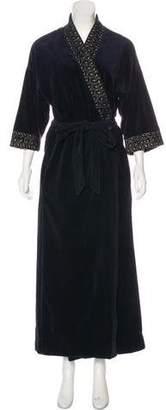 Christian Dior Velvet Embroidered Robe