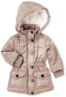 Urban Republic Infant Girls) Gold Hooded Quilted Jacket