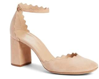 Chloé Scalloped Ankle Strap d'Orsay Pump