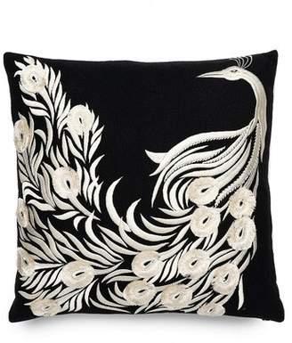 Natori Mayon Peacock Embroidery Pillow