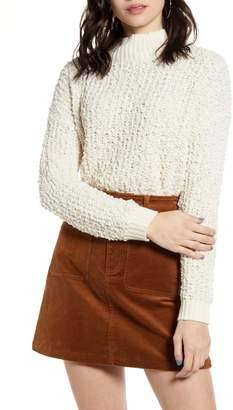 DREAMERS BY DEBUT Nubby Mock Neck Sweater