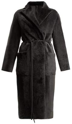 Giani Firenze - Luisa Reversible Shearling Coat - Womens - Grey