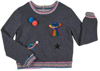 Hannah Banana Space Patches Sweatshirt, Size 7-14