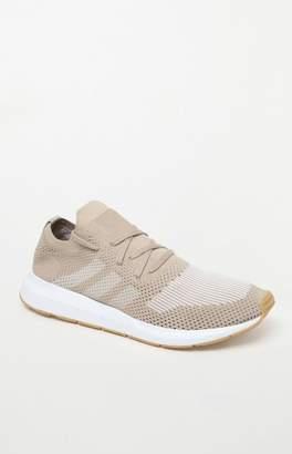 adidas Swift Run Primeknit Gold & White Shoes