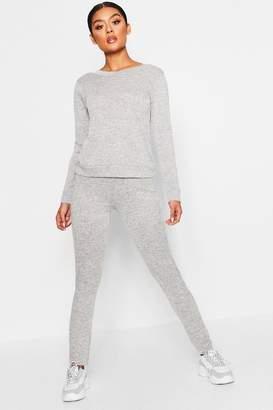 boohoo V Back Knitted Loungewear Set