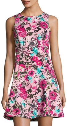 kensie Floral-Print A-line Dress, Multi $65 thestylecure.com