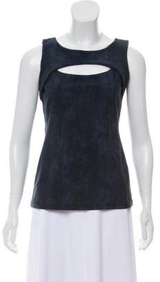 DREW Sleeveless Scoop Neck Top
