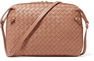Bottega Veneta Nodini Small Intrecciato Leather Shoulder Bag - Antique rose