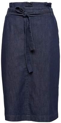Banana Republic Denim Belted Pencil Skirt