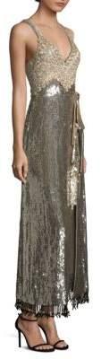 Elan Silver Sequin Dress