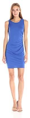 Three Dots Women's Classic Jersey Ruched Mini Dress
