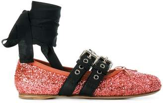 Miu Miu buckled ballerinas
