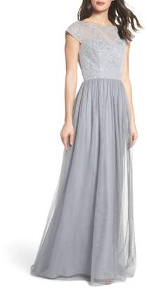 Paige Hayley Occasions Embroidered Bodice Net Gown