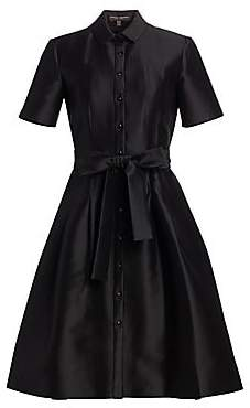 Carolina Herrera Women's Mikado Satin Shirtdress
