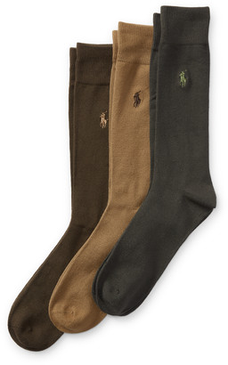 Ralph Lauren Supersoft Trouser Sock 3-Pack