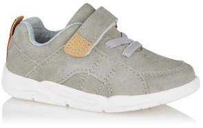 George First Walkers Grey Faux Suede Trainers