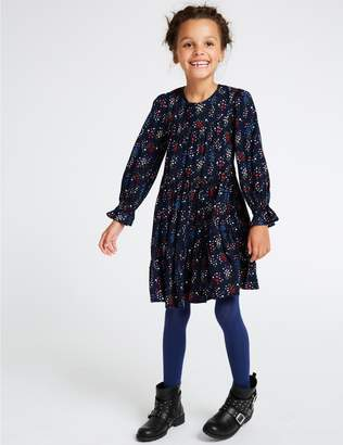 Marks and Spencer Star Floral Print Dress (3-16 Years)