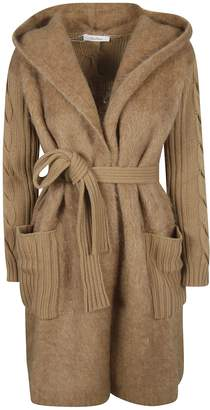 Max Mara Ribbed Belt-tie Cardigan