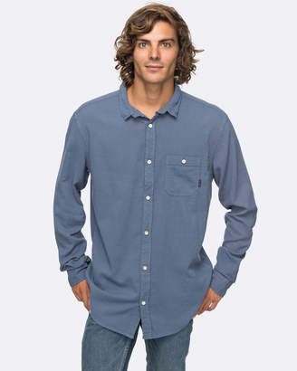 Quiksilver Mens New Time Box Long Sleeve Shirt