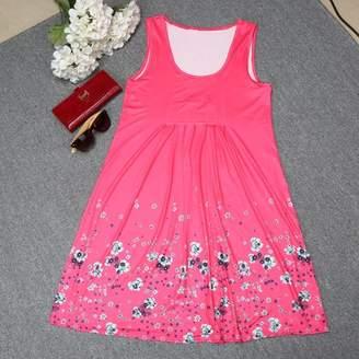 Feel Sexy Women Casual Sleeveless Evening Party Beach Dress Long Dress Floral Print Dress Sleeveless Ankle length Beach Party Dress