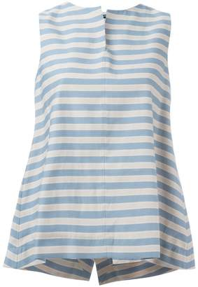Jil Sander Navy sleeveless A-line blouse