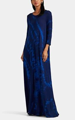 Raquel Allegra Women's Tie-Dyed Cotton Maxi Dress - Blue