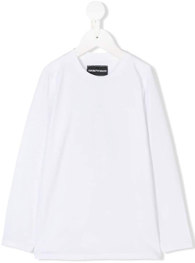 Emporio Armani Kids 6Z4T811J0AZ0100 WHITE Natural (Veg)->Cotton