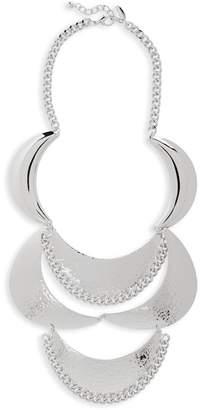 Natasha Accessories Metal Statement Necklace