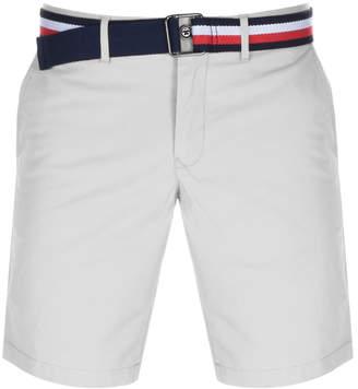 Tommy Hilfiger Brooklyn Twill Belt Shorts White