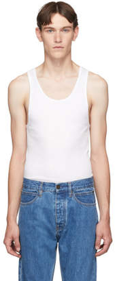 Calvin Klein Underwear Three-Pack White Ribbed Tank Top