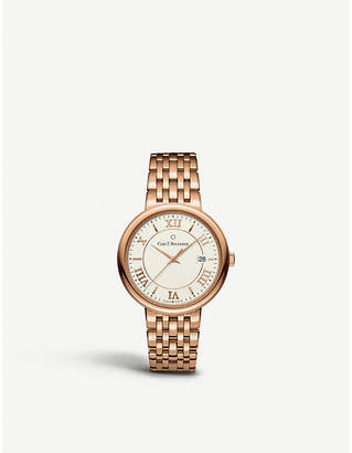 Rosegold CARL F BUCHERER 00.10311.03.15.21 Adamavi rose-gold sapphire crystal bracelet watch