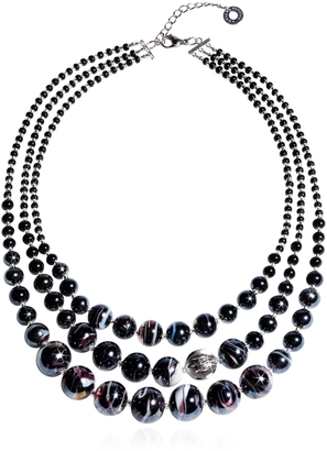 Antica Murrina Optical 1 Top - Black Murano Glass Choker $232 thestylecure.com
