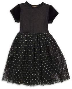 Imoga Little Girl's& Girl's Sparkly Mesh Dress